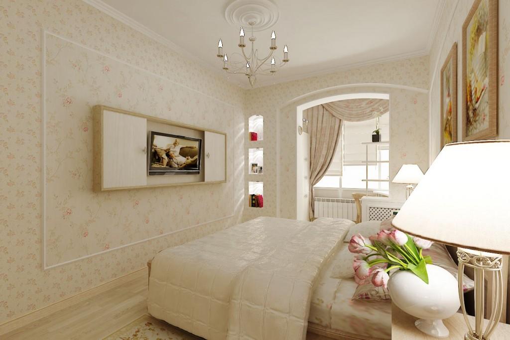 Дизайн классической спальни в хрущевке