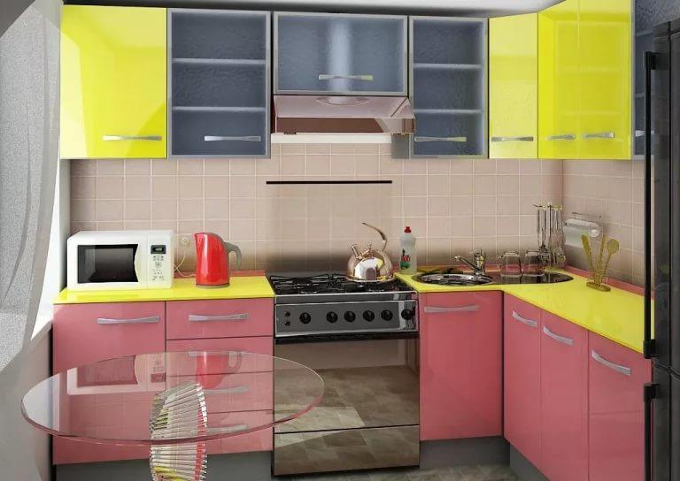 Дизайн кухни в двухкомнатной квартире хрущевской постройки