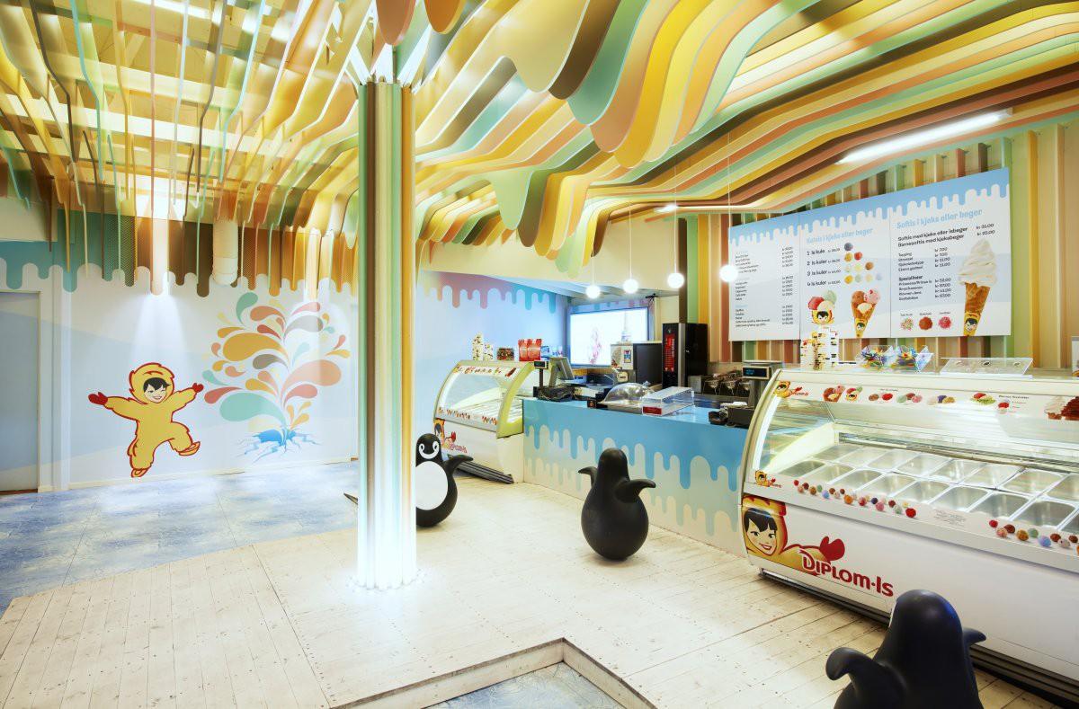 Дизайн магазина мороженного