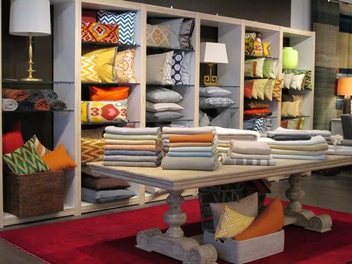 Дизайн магазина постельных принадлежностей
