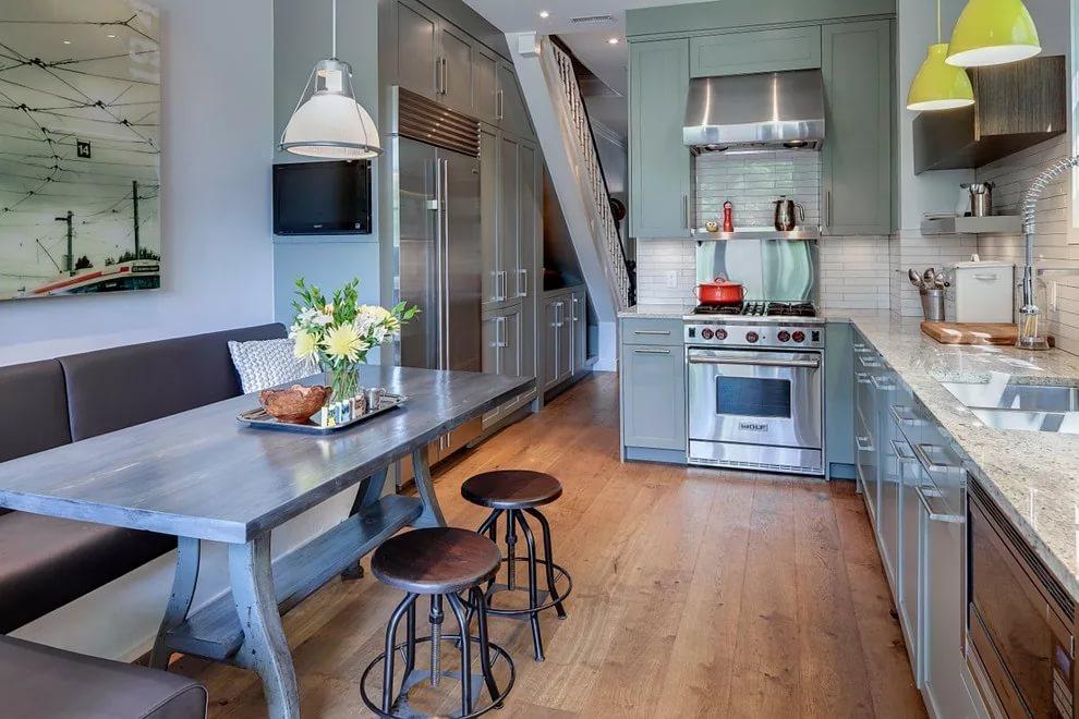 Дизайн обеденной зоня на кухне