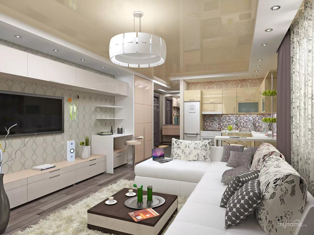 Дизайн однокомнатной квартиры-студии 25 кв. м