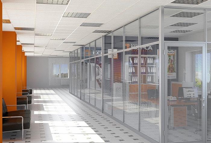 Дизайн офиса закрытого типа
