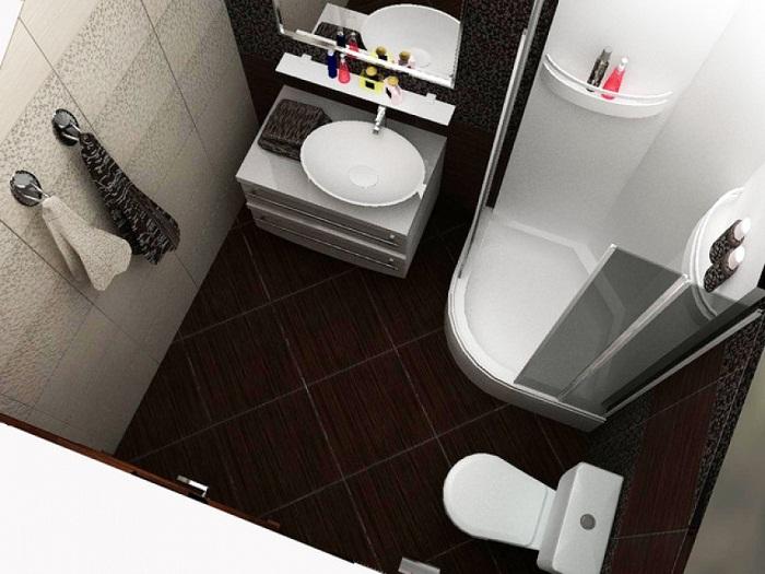 Дизайн совмещенного санузла с душевой кабиной