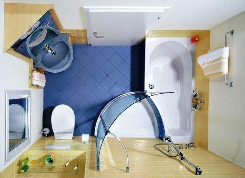 Дизайн совмещенной санузла с ванной и душевой кабиной