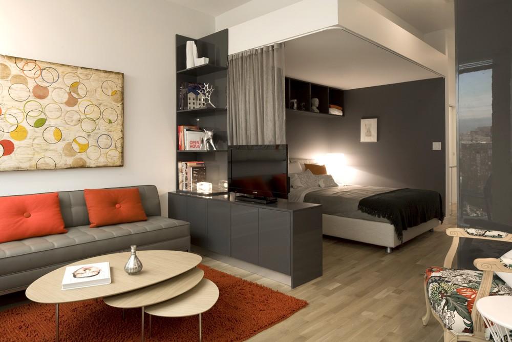 Дизайн спальни-гостиной 20 кв.м