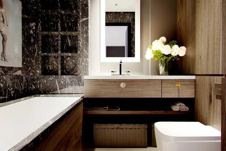 Дизайн стен ванной 4кв.м в ярких и контрастных тонах