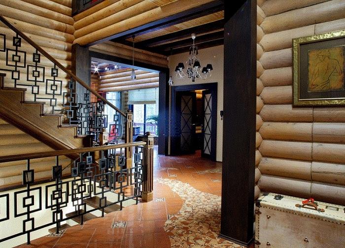 Дизан лестницы в деревянном доме