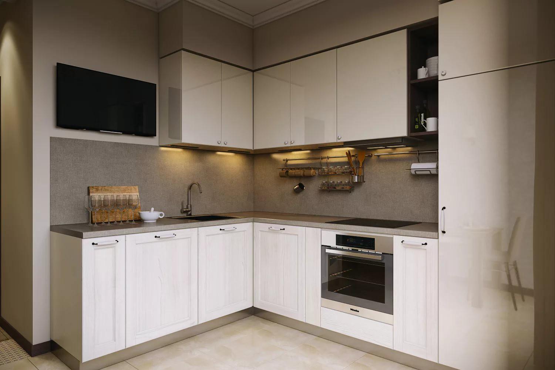 Дополнительная подсветка на кухне 12 кв.м.