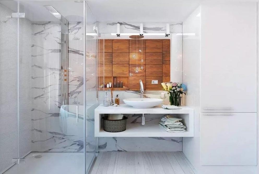 Душевая кабина в ванной 4кв.м