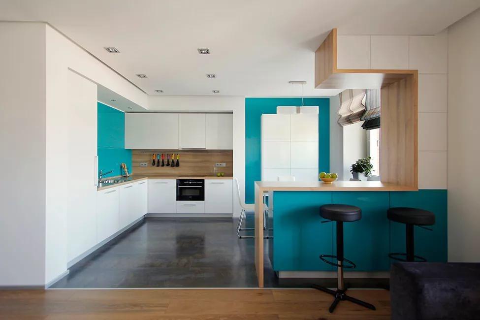 Естесственнное освещение кухни в двухкомнатной квартире