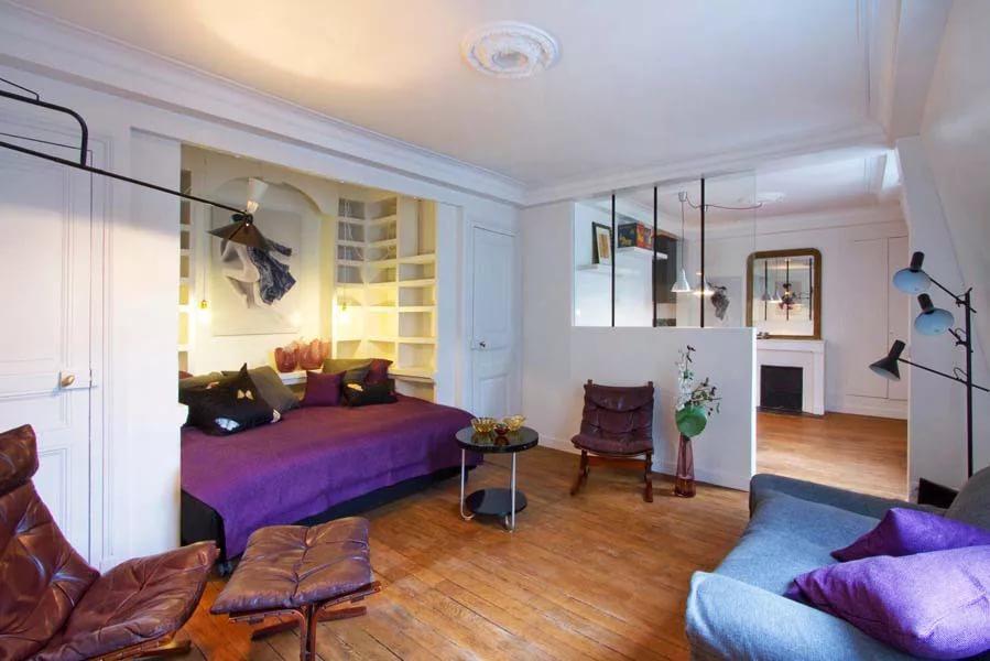 Зеркала в дизайне однокомнетной квартиры