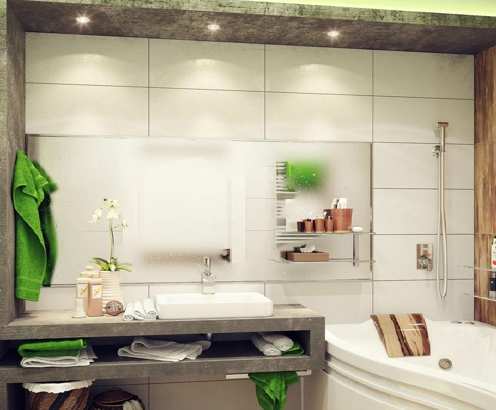 Зеркало в ванной 4кв.м