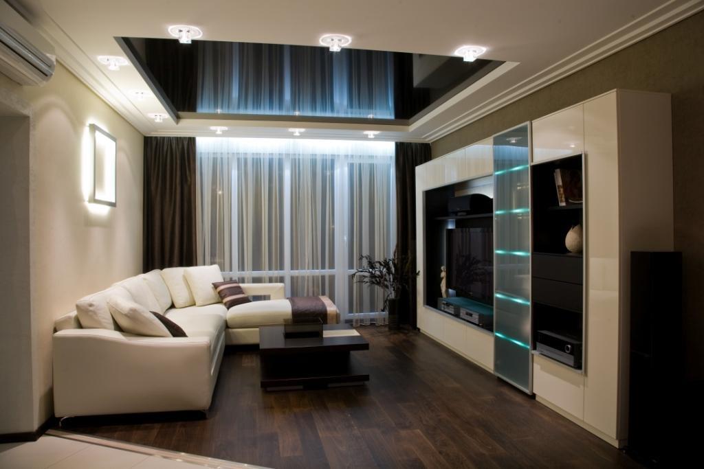 Зональное освещение в гостиной