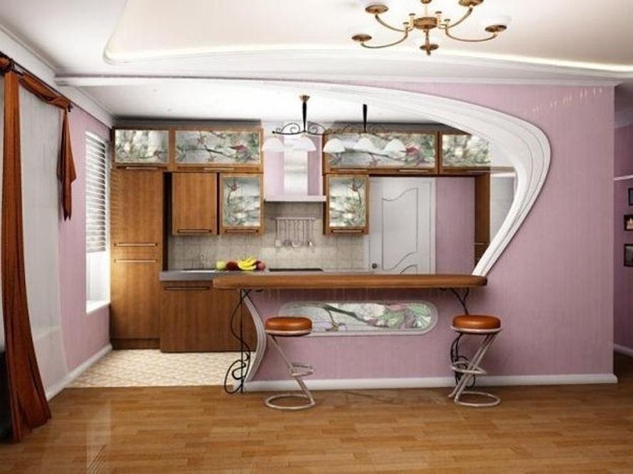 Зона приготовления пищи в квартире-студии 25 кв. м
