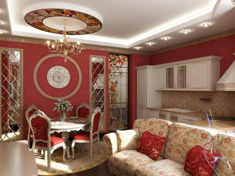 Зонирование гостиной 20 кв.м в восточном стиле