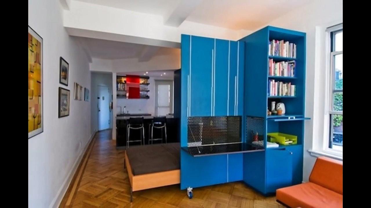 Зонирование квартиры-студии 25 кв. м мебелью