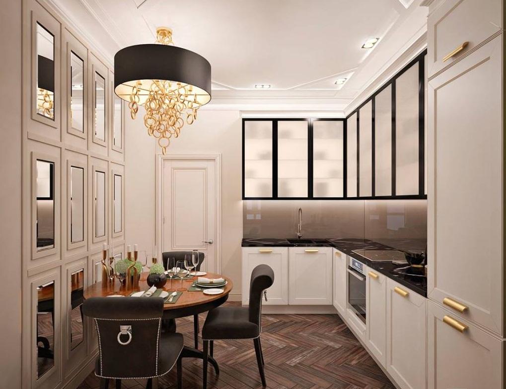 Зонирование кухни в двухкомнатной квартире