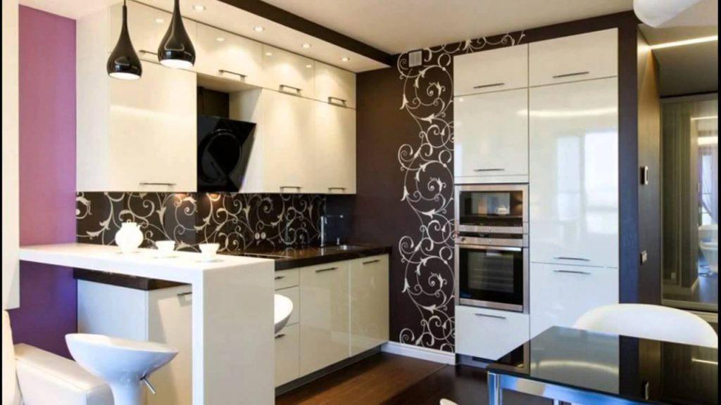 Зонирование кухни 12 кв.м. перегородкой средней высоты