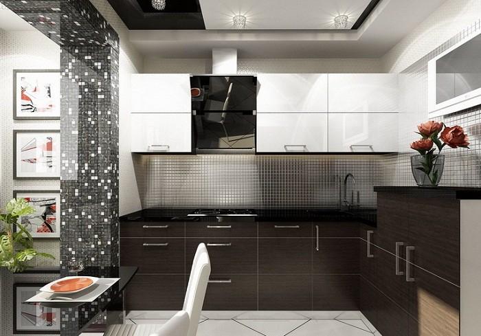Зонирование кухни 9 кв. м.