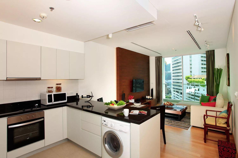 Зонирование свмещенной кухни в двухкомнатной квартире