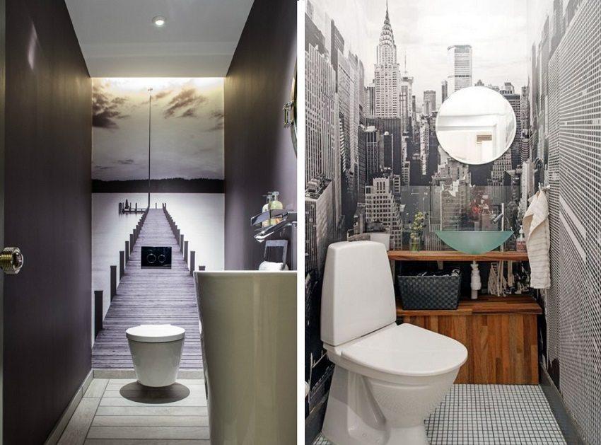 Зрительное расширение пространства в туалете