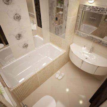 Интерьер в маленькой ванной