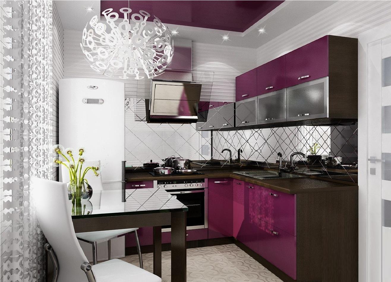 Интерьер маленькой кухни в двухкомнатной квартире