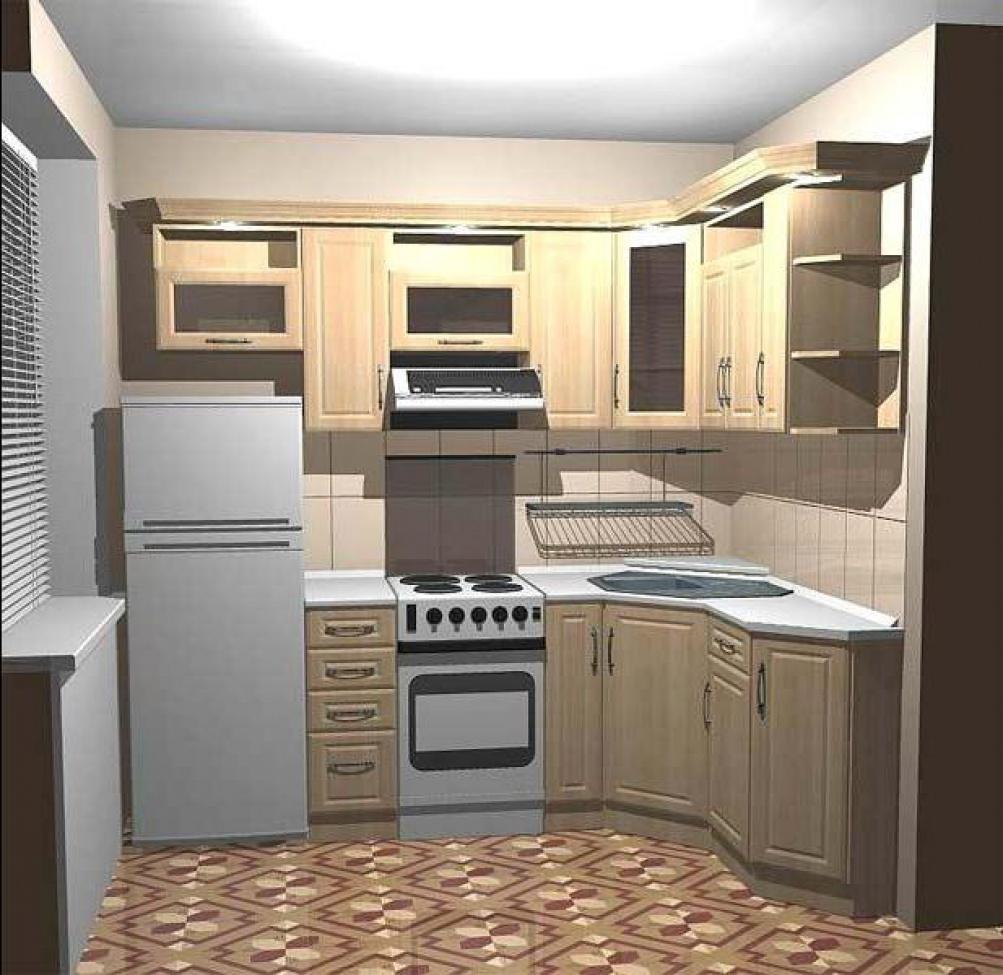 Интерьер светлой кухни в двухкомнатной квартире