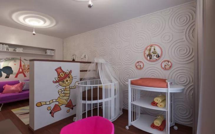 Интерьер уголка ребенка в однокомнатной квартире