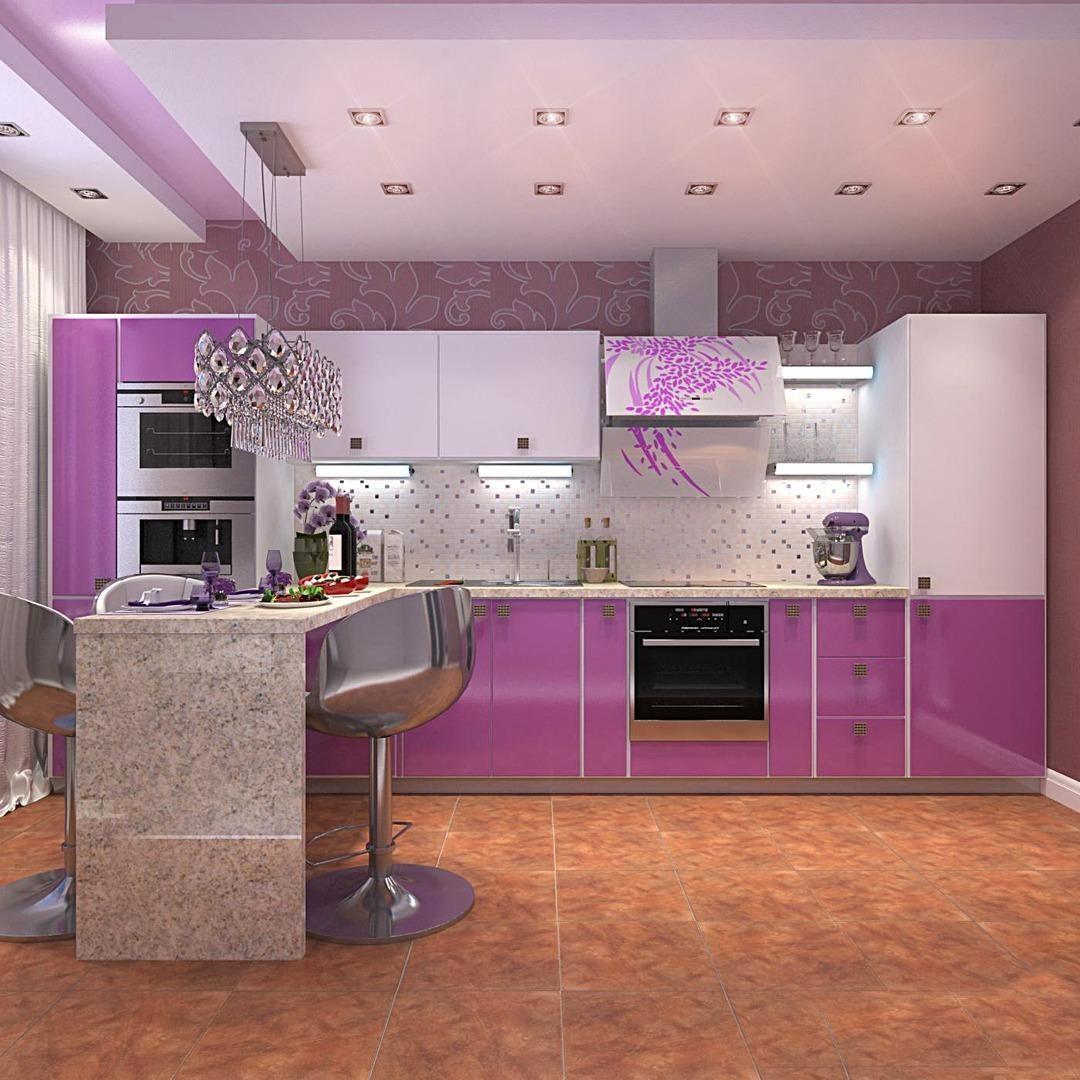 Искусственное освещение кухни в двухкомнатной квартире