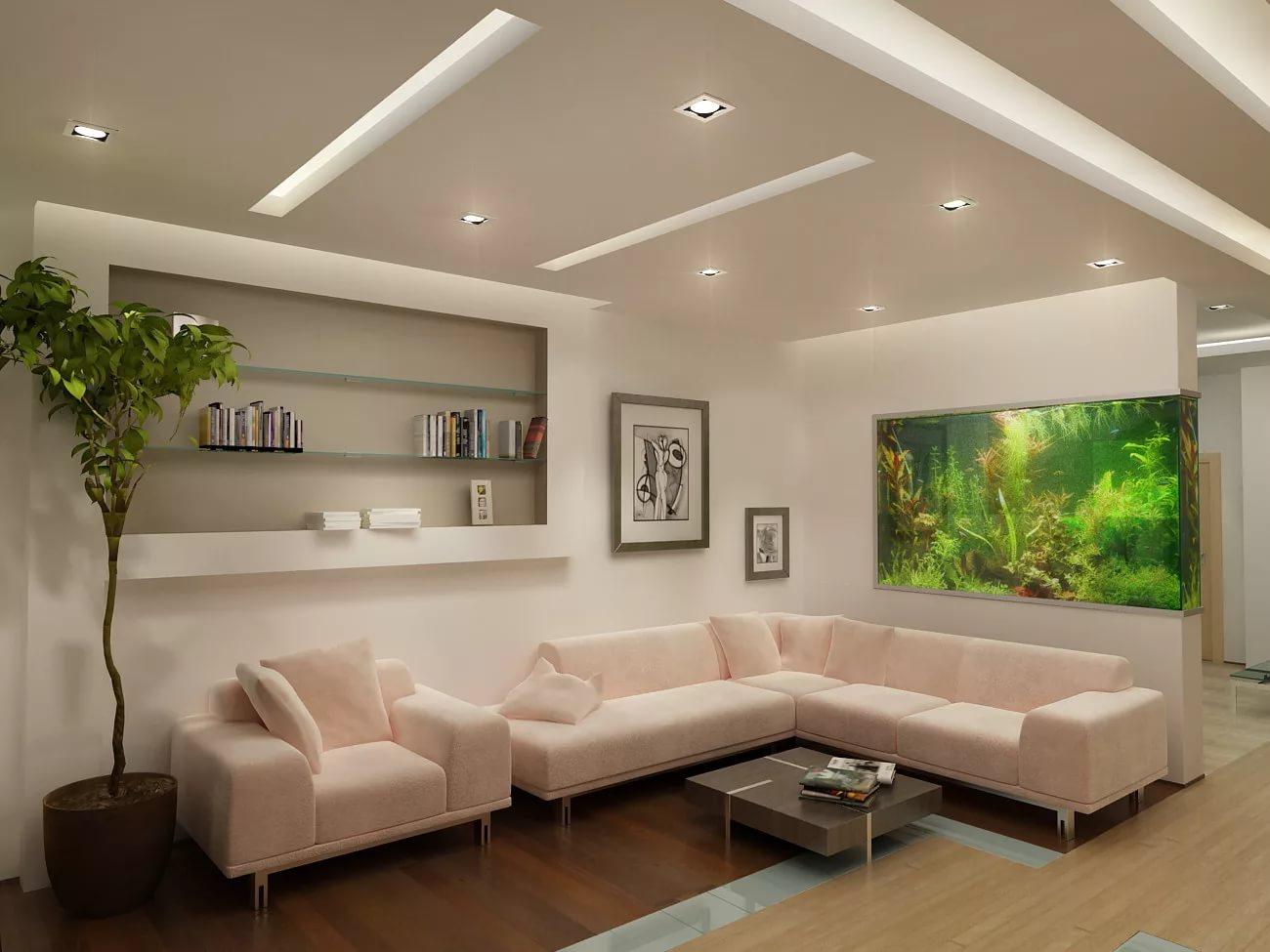 Использование аквариума в интерьере квартиры в новостройке