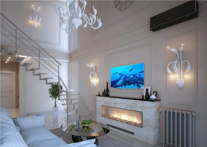Использование плитки на полу в двухуровневой квартире
