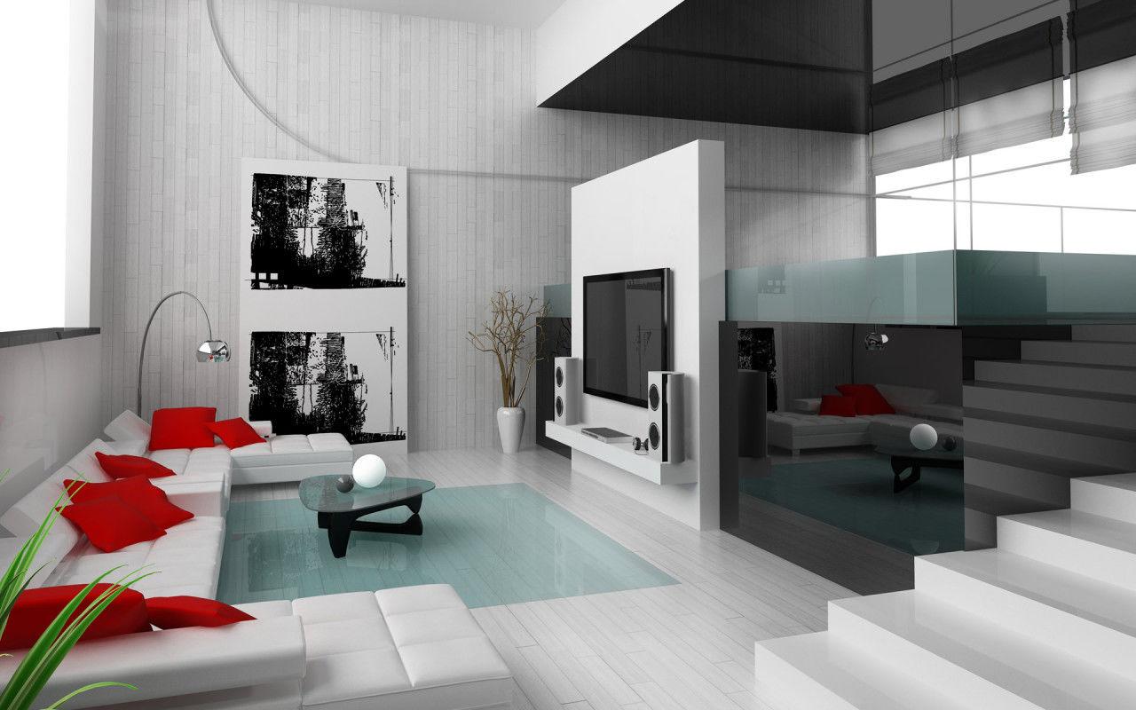 Использование современной техники в дизайне двухуровневой квартиры