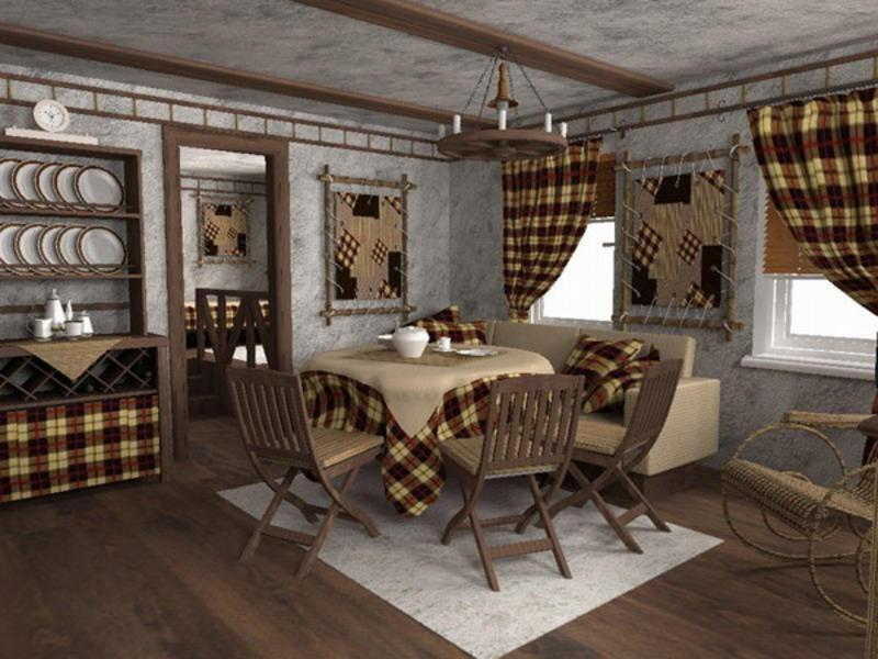 Кантри или деревенский стиль дачного дома