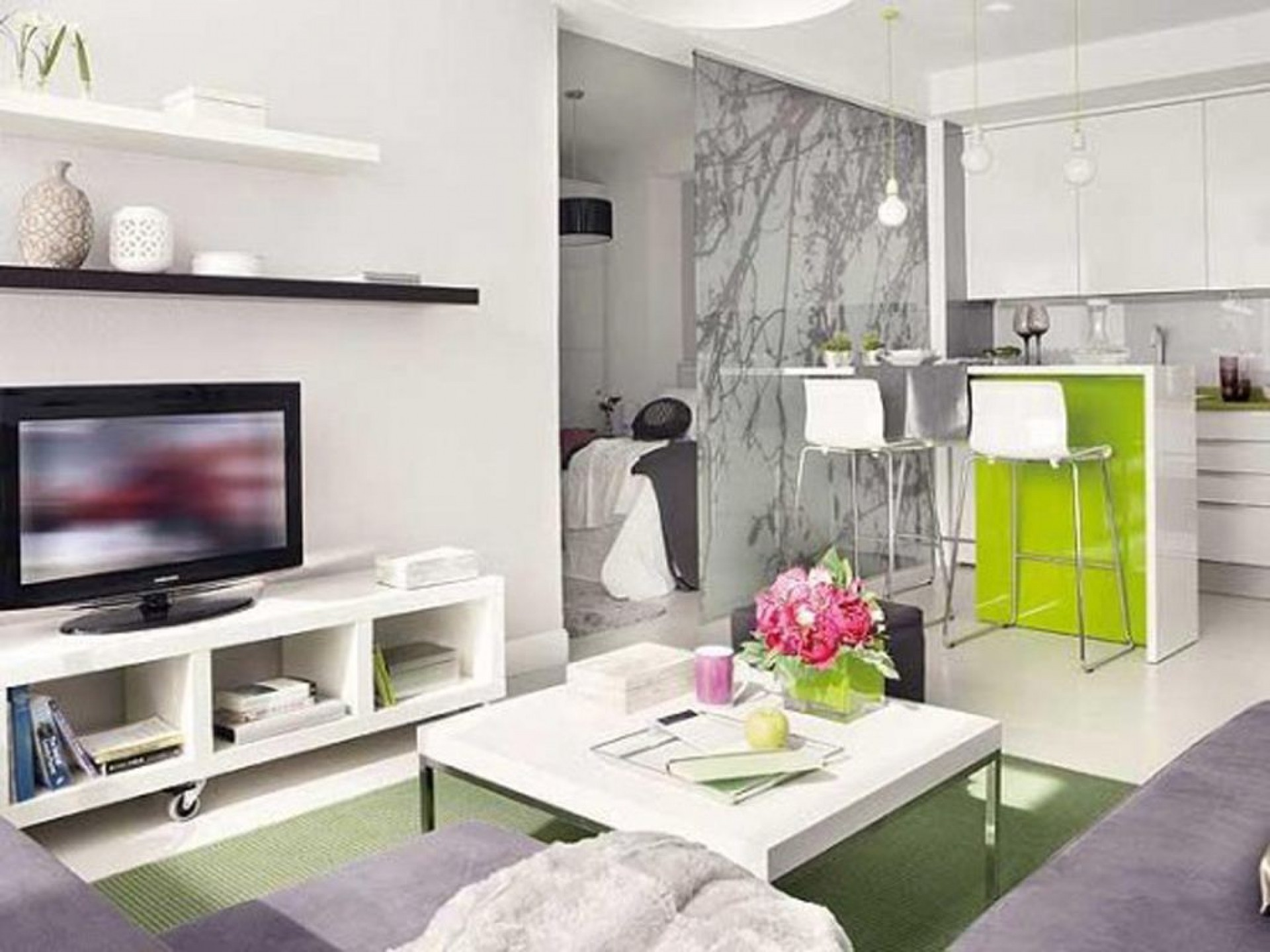 Квартира-студия 25 кв. м в стиле хай-тек