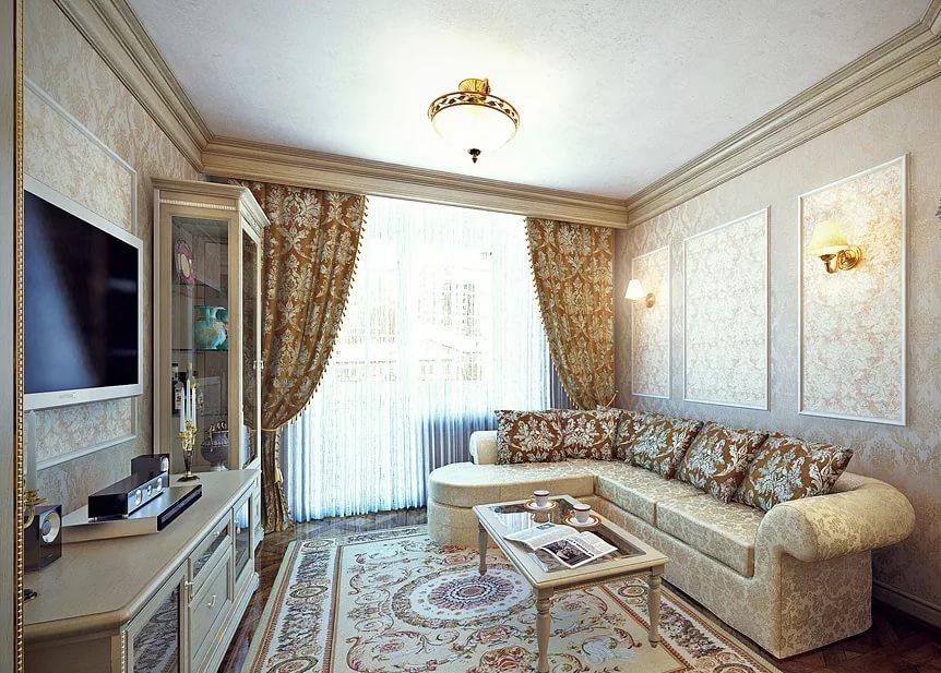 Классический стиль в маленькой гостинной
