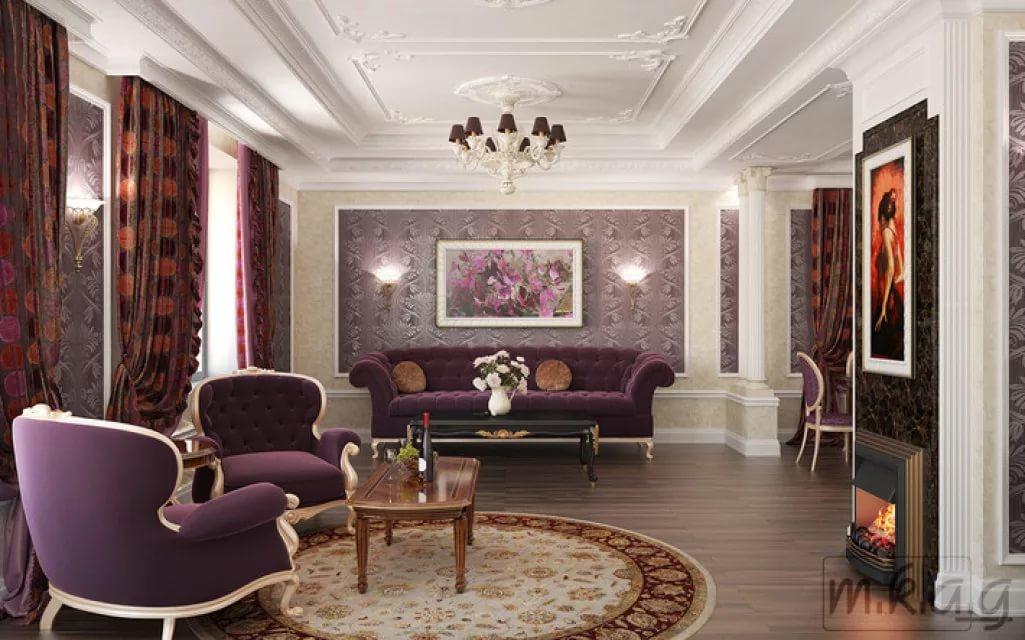 Классический стиль в оформлении гостинной котеджа
