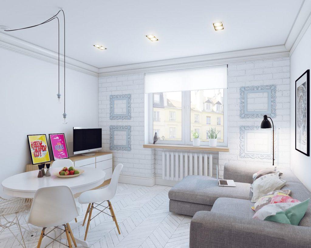 Компактная мебель в маленькой гостинной