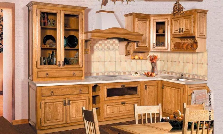 Комплект кухонной мебели из дерева