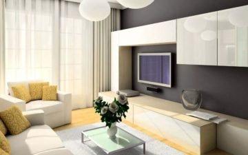 Дизайн интерьера гостиной 18 кв. м