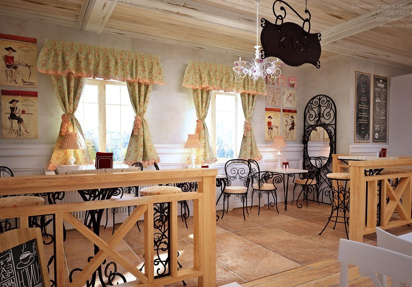 Кофейня во французском стиле