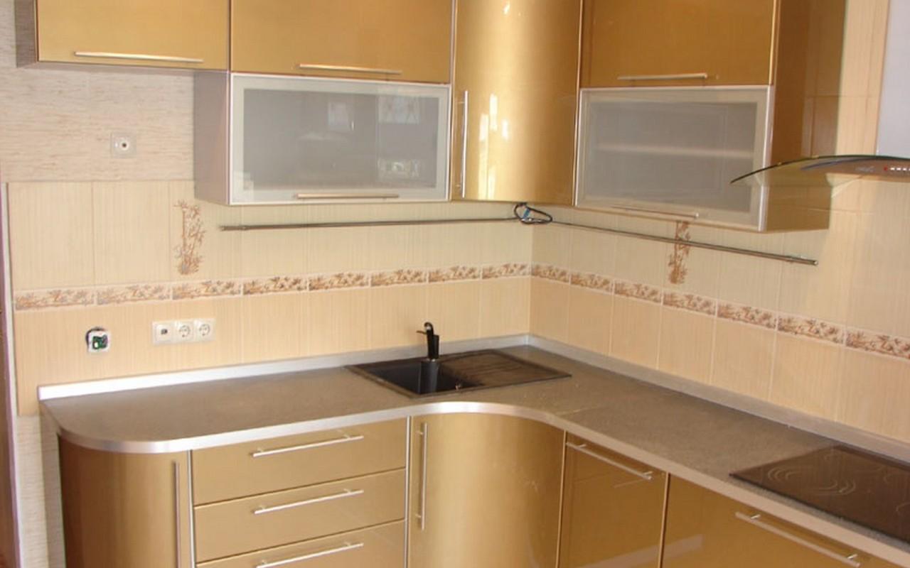 Кухонный гарнитур из МДФ с эмалевым покрытием