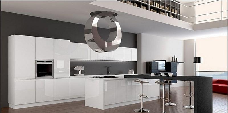 Мебелировка кухни в стиле хай-тек