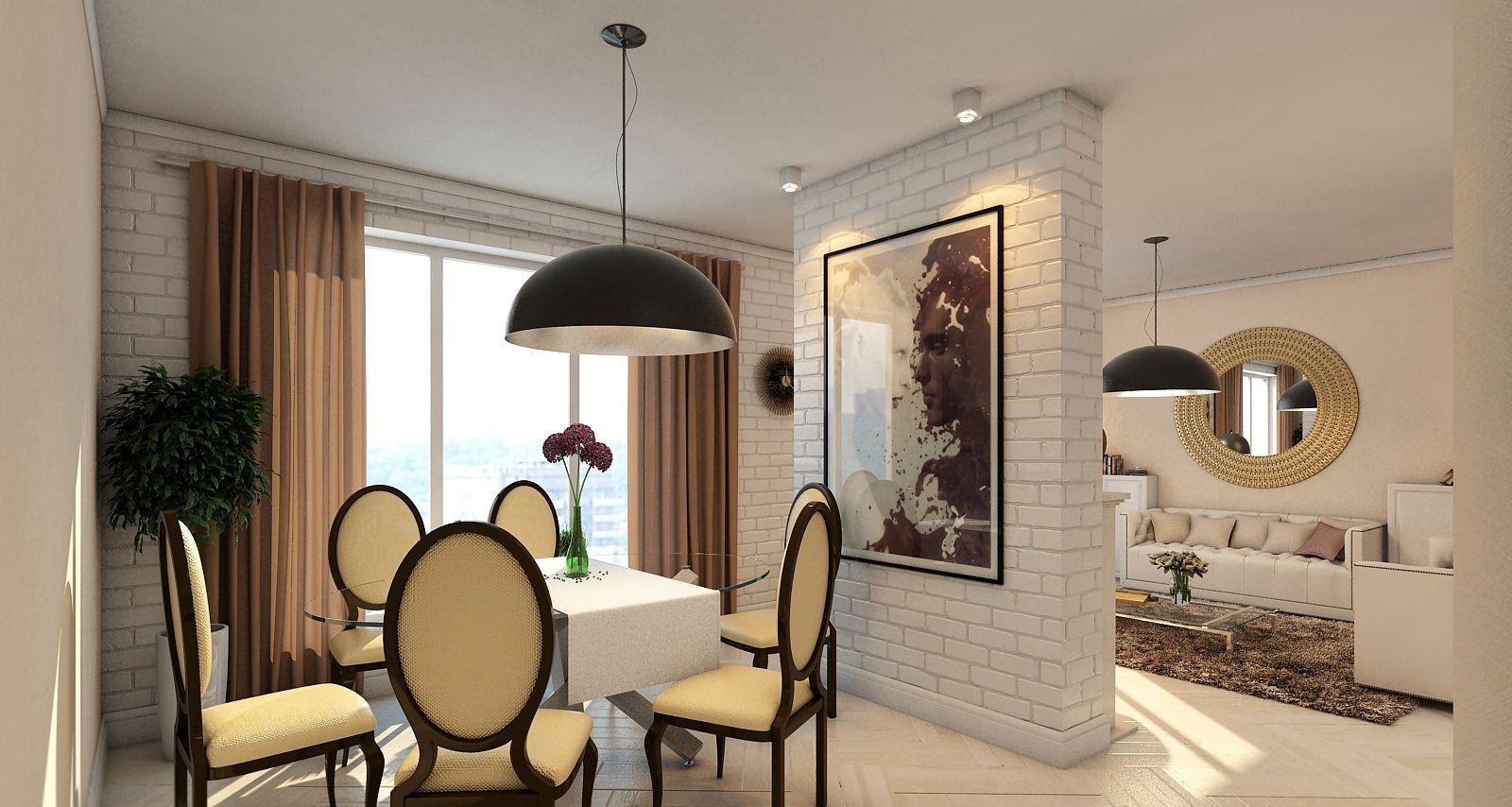 Мебелировка столовой зоны в квартире-студии 25 кв. м