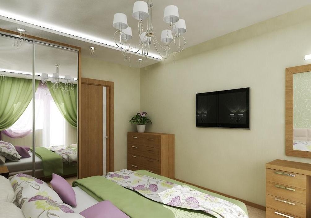 Мебель в интерьере спальни в хрущевке