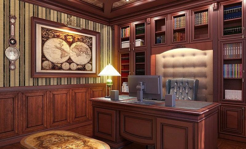 Мебель в кабинете в английском стиле