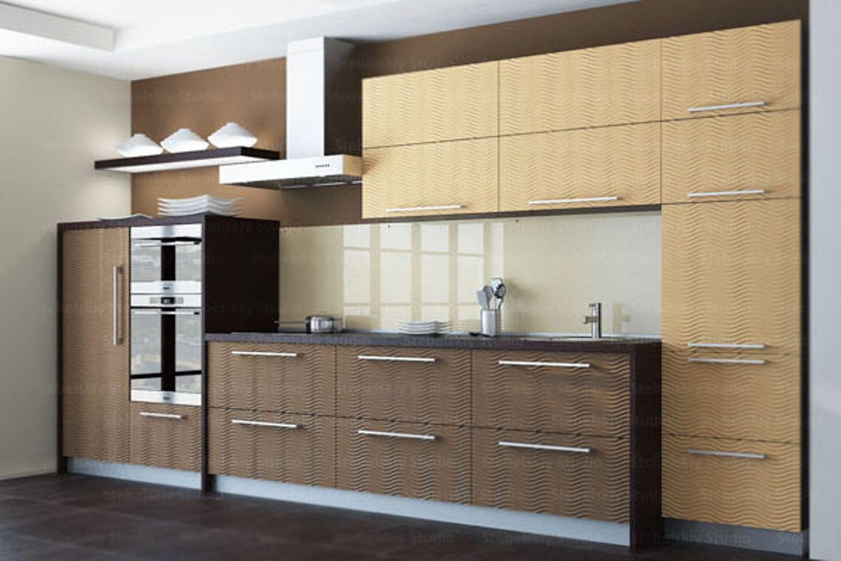 Мебель для кухни 6 кв.м из МДФ
