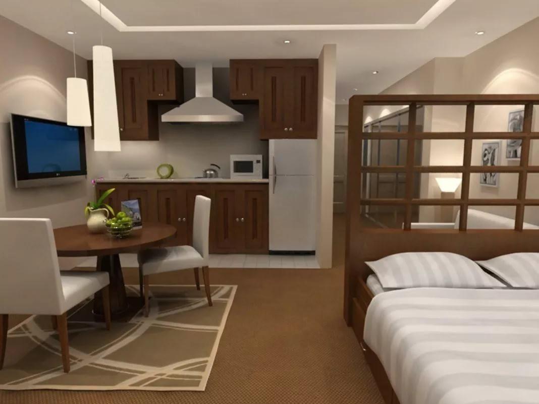 Мебель для спальни в квартире-студии 25 кв. м