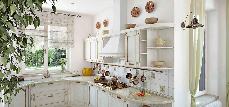 Мебилировка кухни в стиле прованс